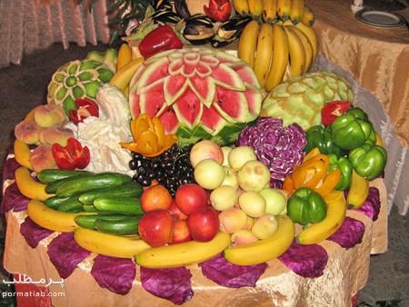 تصاویر تزیین میوه روی میز,تزیین میوه روی میز برای تولد,تزیین میوه روی میز
