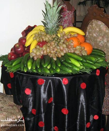 میوه آرایی روی میز