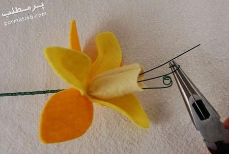 روش های ساخت گل نرگس,ساخت گل نرگس