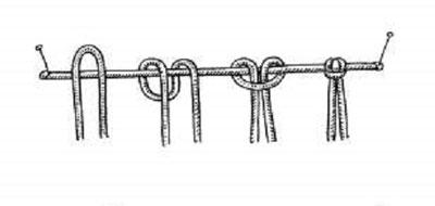 آموزش تصویری مکرومه بافی, نحوه طناب بافی