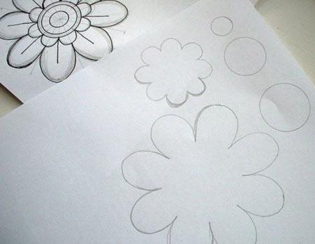 ساخت کارهای هنری با فوتر,آموزش درست کردن رومیزی های نمدی