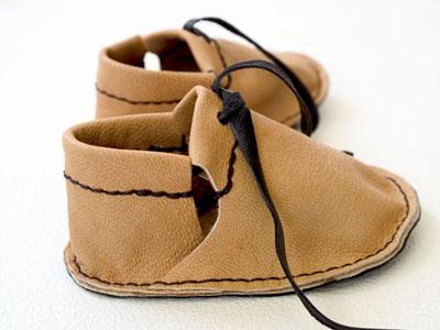 دوخت کفش چرمی, آموزش دوخت کفش بچه گانه