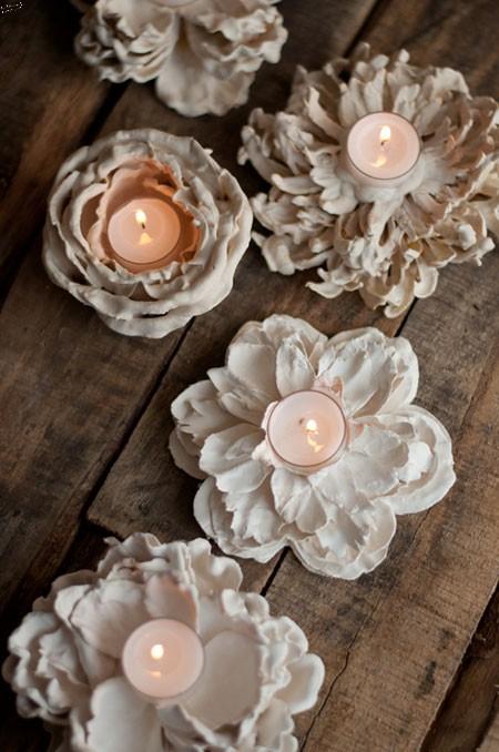 ساخت جاشمعی با گل های مصنوعی,آموزش ساخت جاشمعی