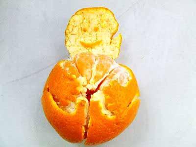 ساخت آدمک با پوست نارنگی